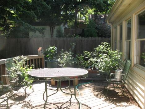 Six pot garden