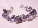 amethyst wire wrap bracelet