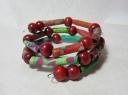 Fabric bead memory bracelet