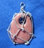 pink wra2pped pendant back