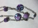 purple stone necklaces detail
