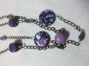 purple stone necklaces detail