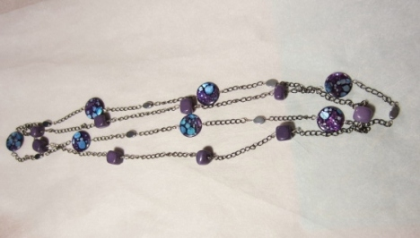 purple stone necklaces