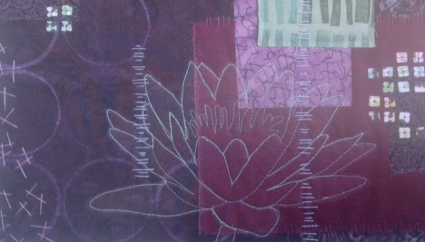 Check out this embroidery and the gorgeous lotus.