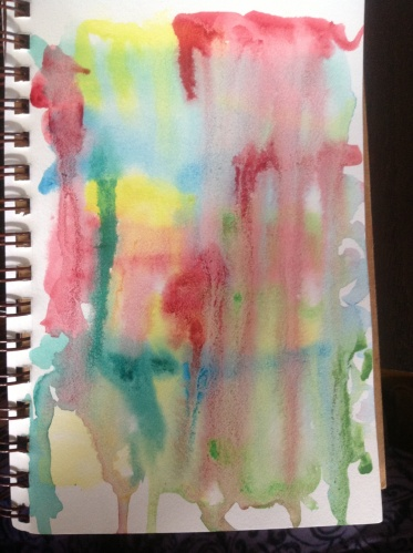 watercolor background page