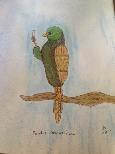 Fowlus Scientificus--Inktense Pencils