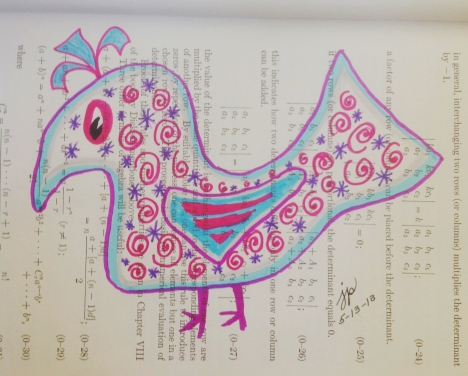 Tangle inspired bird--I'm practicing spirals.