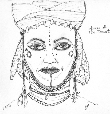 Woman of the desert from the Faces project