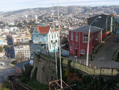 PS Valparaiso from funicular
