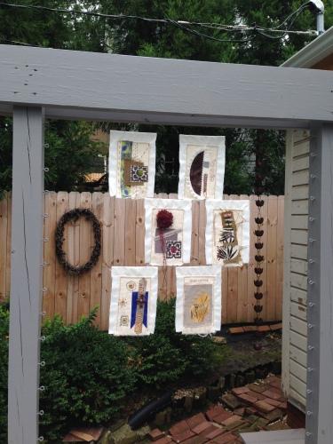 Prayer flags hung